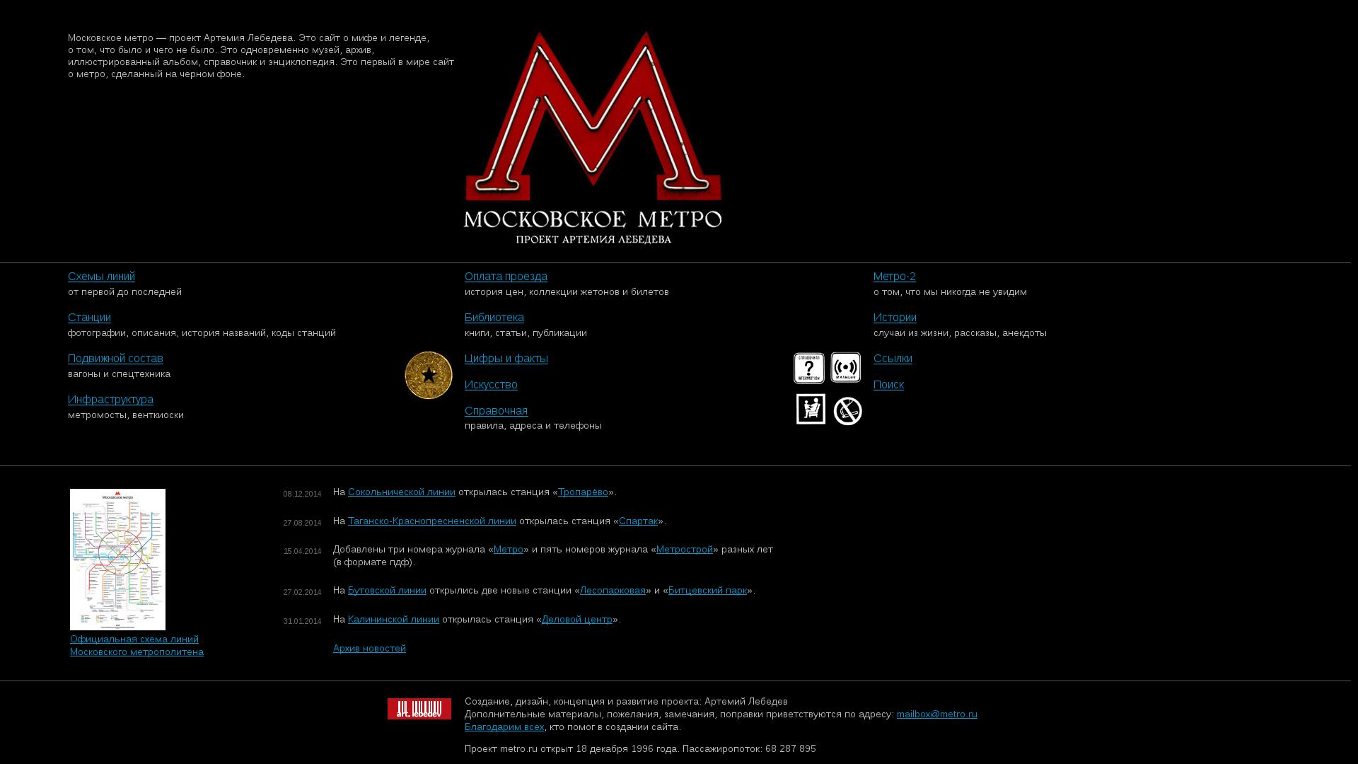 Московское метро - проект Артемия Лебедева.  1. 0 +0 0. Отзывы о сайте metro.ru.  Администратор сайта.